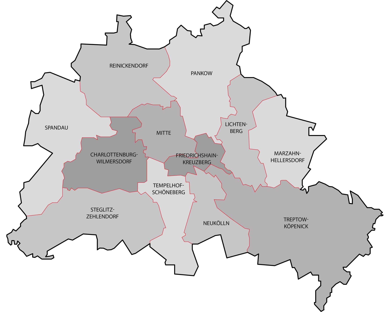 Berlin Stadtgebiet