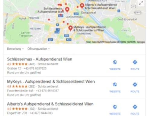 Google und Schlüsseldienst